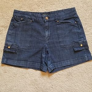 White House Black Market  blue jean shorts